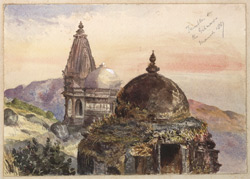 'Beejapore. Jumma Musjid in the distance. 1st December 1857'.